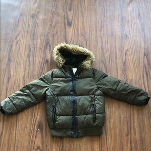 Zara Boys Puffer Jacket w/Furry Hood